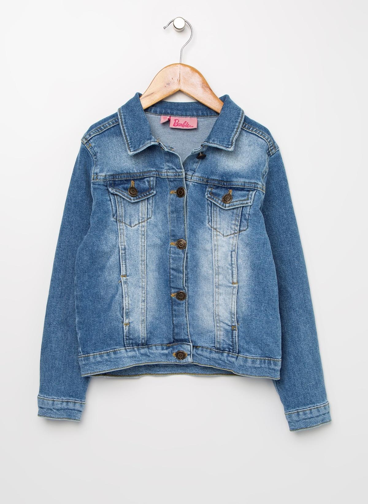 Kız Çocuk Barbie Jean Ceket